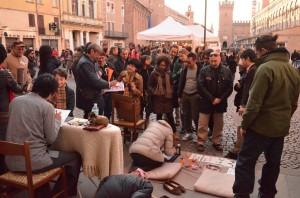la raccolta fondi per il Giappone organizzata a Ferrara l'11/03/12