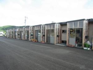 le case di emergenza costruite a Ishinomaki dopo lo tsunami